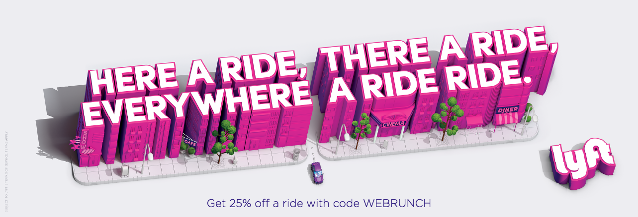 Here's a Ride, There's a Ride – Use Code: WEBRUNCH